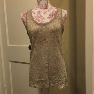 One World Lace Tank Top